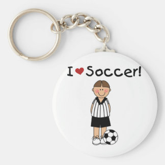 I Love Soccer T-shirts and Gifts Keychain