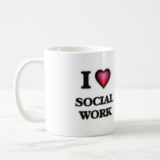 I Love Social Work Coffee Mug
