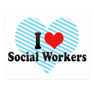 I Love Social Workers Postcard