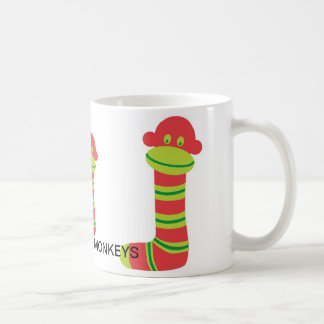 I LOVE SOCK MONKEYS CLASSIC WHITE COFFEE MUG