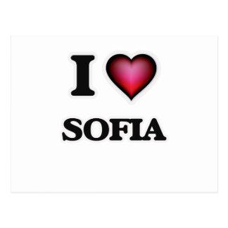 I Love Sofia Postcard