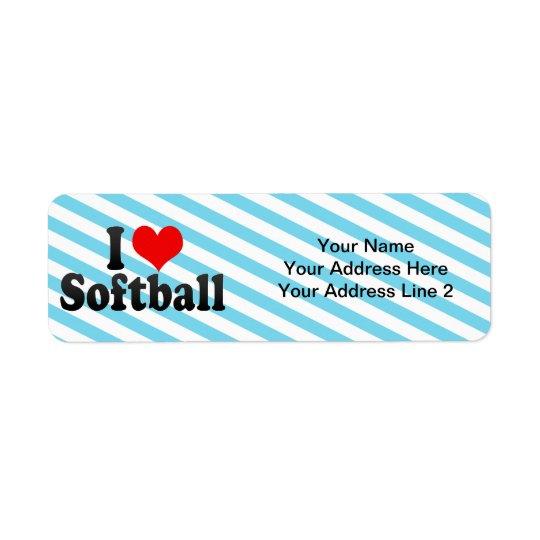 I Love Softball
