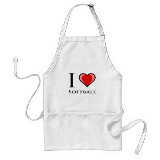 I Love Softball Apron