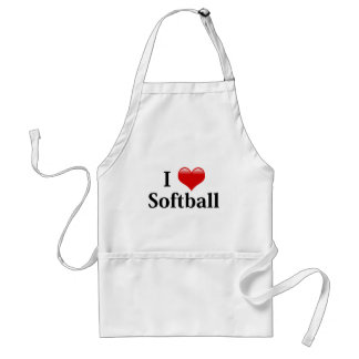 I Love Softball Standard Apron