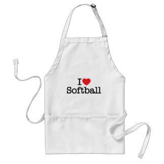 I love softball standard apron