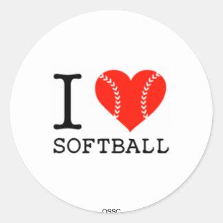 i love softball STICKERS ossc