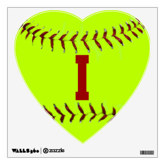 I Love Softball Wall Decal