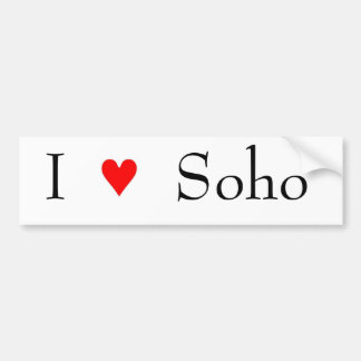 I love soho bumper sticker
