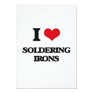 "I love Soldering Irons 5"" X 7"" Invitation Card"