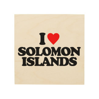 I LOVE SOLOMON ISLANDS WOOD WALL DECOR