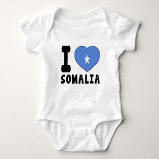 I Love Somalia Baby Bodysuit