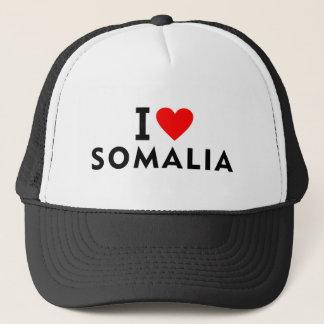 I love Somalia country like heart travel tourism Trucker Hat