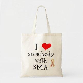 I Love Somebody With SMA Awareness Tote Bag