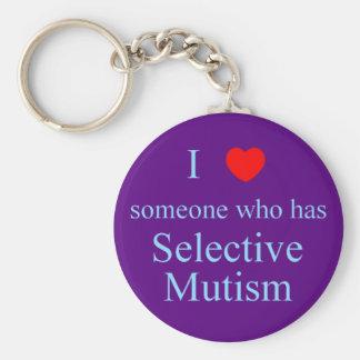 I Love Someone Selective Mutism Keychain