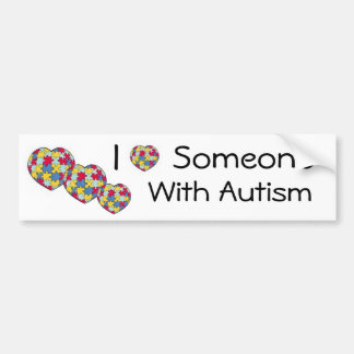 I Love Someone With Autism Bumpersticker Bumper Sticker
