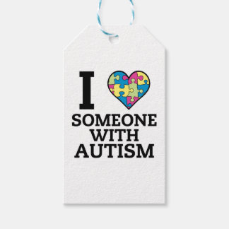 I LOVE SOMEONE WITH AUTISM GIFT TAGS