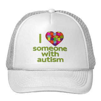 I LOVE SOMEONE WITH AUTISM MESH HATS
