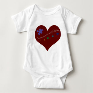 I love someone with Autism Heart Baby Bodysuit