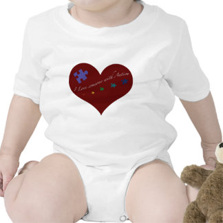 I love someone with Autism Heart Shirts