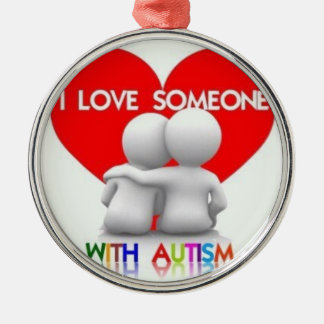 I love Someone With Autism Holiday Ornament