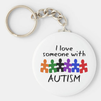 I LOVE SOMEONE WITH AUTISM KEYCHAIN