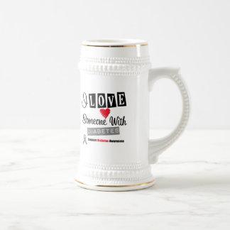 I Love Someone With Diabetes Coffee Mugs