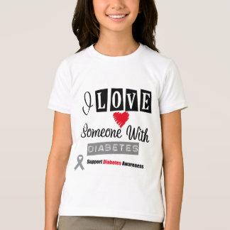 I Love Someone With Diabetes Tee Shirt