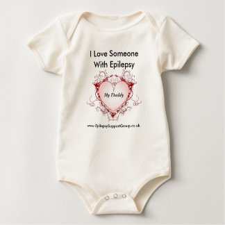 I love someone with epilepsy - my daddy baby bodysuit