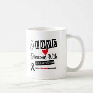 I Love Someone With Melanoma Coffee Mugs