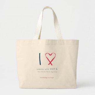 I love someone with VCFS - ribbon Jumbo Tote Bag
