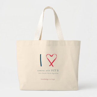 I love someone with VCFS - ribbon Large Tote Bag
