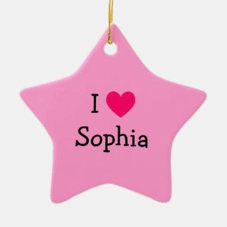 I Love Sophia Ornament