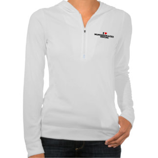 I LOVE SOPHISTICATED SWING HOODED PULLOVER
