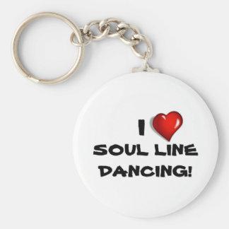 I Love Soul Line Dancing! Keychain