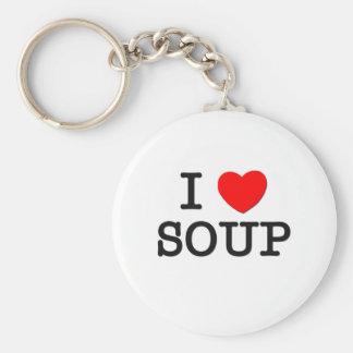 I Love SOUP ( food ) Keychain