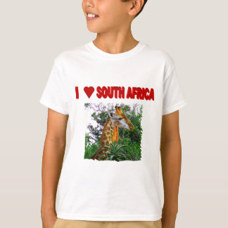 I Love South Africa Aloe Giraffe T-Shirt