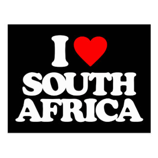 I LOVE SOUTH AFRICA POSTCARD
