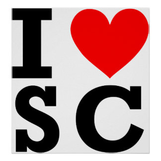 I Love South Carolina Design Poster