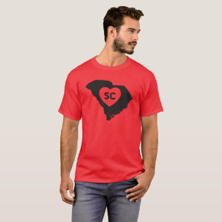 I Love South Carolina State Men's Dark T-Shirt