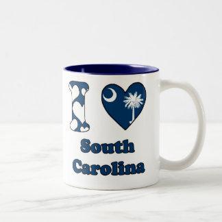 I love South Carolina Two-Tone Coffee Mug