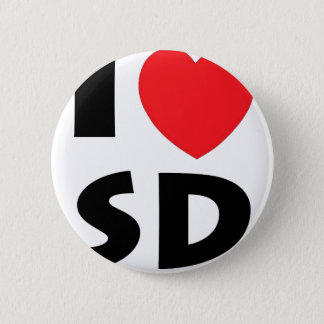 I Love South Dakota 2 Inch Round Button
