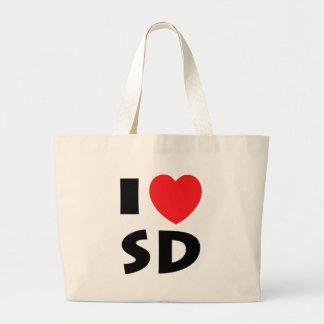 I Love South Dakota Large Tote Bag