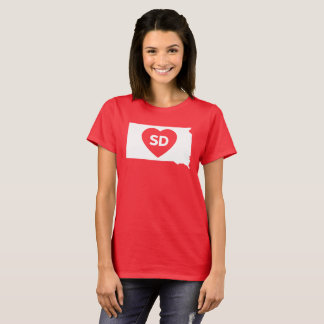 I Love South Dakota State Women's Basic T-Shirt