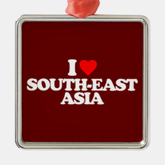 I LOVE SOUTH-EAST ASIA Silver-Colored SQUARE ORNAMENT
