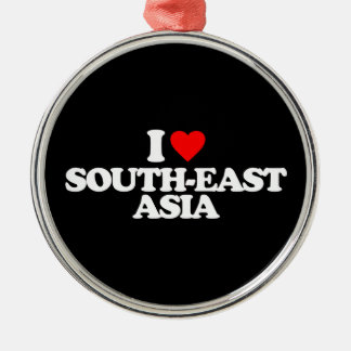I LOVE SOUTH-EAST ASIA Silver-Colored ROUND ORNAMENT