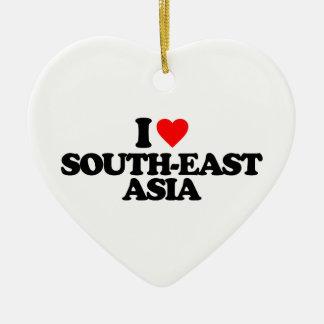 I LOVE SOUTH-EAST ASIA CHRISTMAS TREE ORNAMENTS