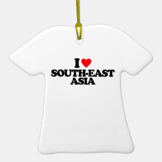 I LOVE SOUTH-EAST ASIA Double-Sided T-Shirt CERAMIC CHRISTMAS ORNAMENT