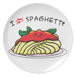 I love spaghetti plate
