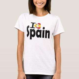 I Love Spain Flag T-shirt