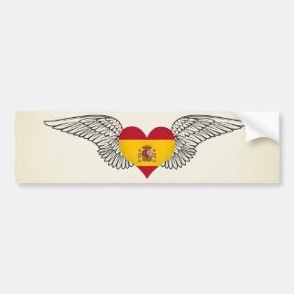 I Love Spain -wings Bumper Sticker